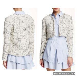 DEREK LAM 10 CROSBY   cropped tweed jacket 0